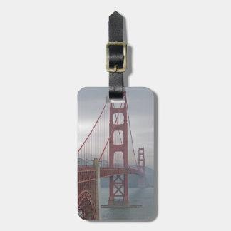 Golden gate bridge in mist. luggage tag
