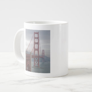 Golden gate bridge in mist. jumbo mug