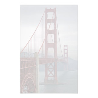 Golden gate bridge in mist. stationery