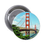 Golden Gate Bridge In San Francisco 6 Cm Round Badge