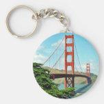 Golden Gate Bridge In San Francisco Basic Round Button Key Ring