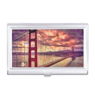 Golden Gate Bridge in San Francisco, California. Business Card Holder