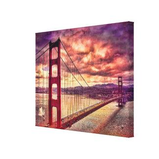 Golden Gate Bridge in San Francisco, California. Gallery Wrapped Canvas
