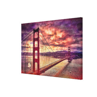 Golden Gate Bridge in San Francisco, California. Stretched Canvas Prints