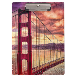 Golden Gate Bridge in San Francisco, California. Clipboard