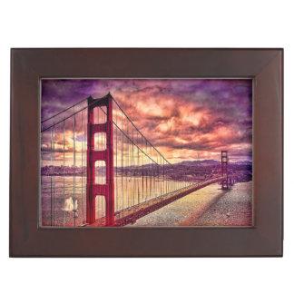 Golden Gate Bridge in San Francisco, California. Keepsake Box