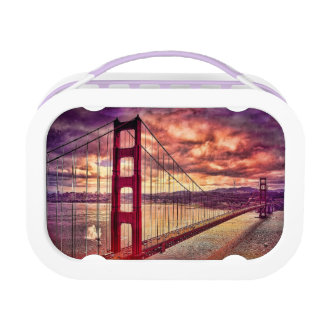 Golden Gate Bridge in San Francisco, California. Lunch Box