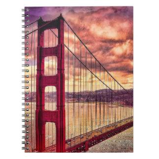 Golden Gate Bridge in San Francisco, California. Notebooks