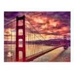 Golden Gate Bridge in San Francisco, California. Postcard