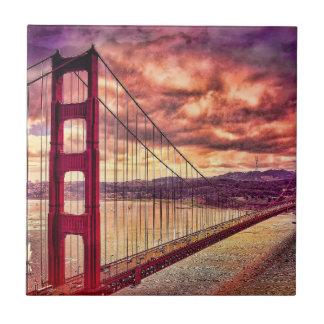 Golden Gate Bridge in San Francisco, California. Tile