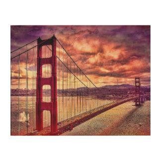 Golden Gate Bridge in San Francisco, California. Wood Wall Decor