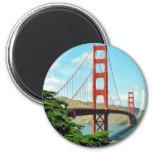 Golden Gate Bridge In San Francisco Refrigerator Magnet