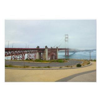 Golden Gate Bridge in the Fog Photo Art