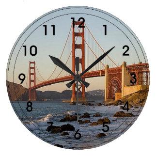 Golden Gate Bridge Large Clock