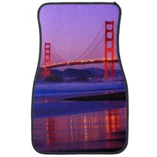 Golden Gate Bridge on Baker Beach at Sundown Car Mat