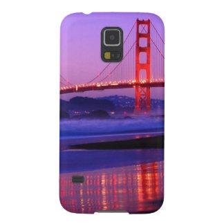 Golden Gate Bridge on Baker Beach at Sundown Galaxy S5 Cover