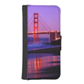 Golden Gate Bridge on Baker Beach at Sundown iPhone SE/5/5s Wallet Case