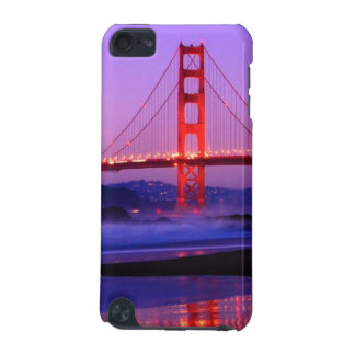 Golden Gate Bridge on Baker Beach at Sundown iPod Touch (5th Generation) Cases