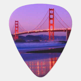 Golden Gate Bridge on Baker Beach at Sundown Plectrum