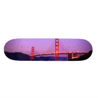 Golden Gate Bridge on Baker Beach at Sundown Skate Board