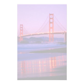 Golden Gate Bridge on Baker Beach at Sundown Stationery