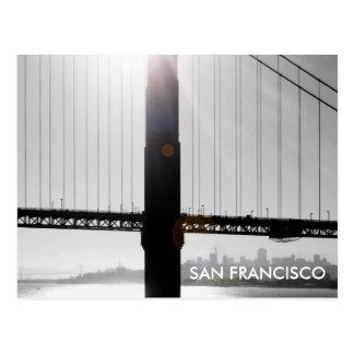 Golden Gate Bridge Postcard Black White