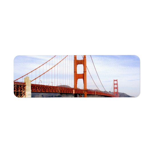 Golden Gate Bridge Return Address Label