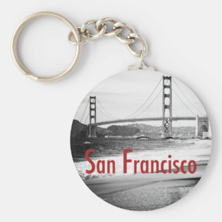 Golden Gate Bridge, San Francisco Basic Round Button Key Ring