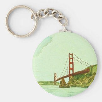 Golden Gate Bridge San Francisco by Shawna Mac Basic Round Button Key Ring