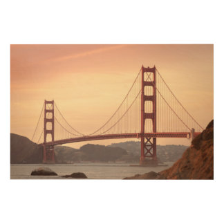 Golden Gate Bridge, San Francisco by Sunset Wood Wall Art