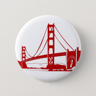 Golden Gate Bridge - San Francisco, CA 6 Cm Round Badge