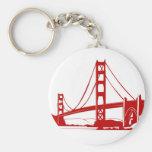 Golden Gate Bridge - San Francisco, CA Basic Round Button Key Ring