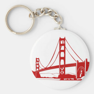 Golden Gate Bridge - San Francisco, CA Basic Round Button Key Ring