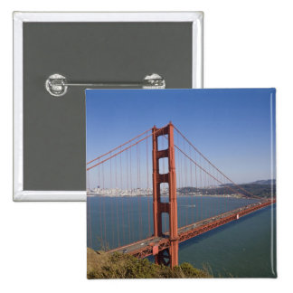 Golden Gate Bridge, San Francisco, California, 10 15 Cm Square Badge
