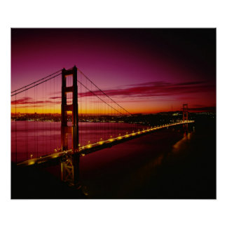 Golden Gate Bridge, San Francisco, California, 3 Poster