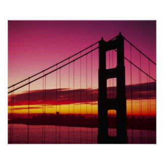 Golden Gate Bridge, San Francisco, California, 4 Poster