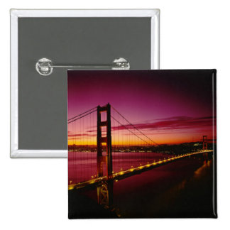 Golden Gate Bridge, San Francisco, California, 5 15 Cm Square Badge