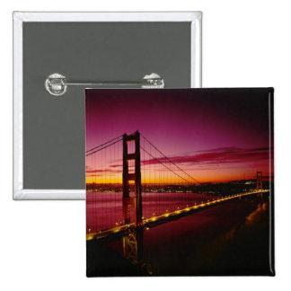 Golden Gate Bridge, San Francisco, California, 5 15 Cm Square Badge