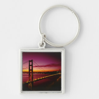 Golden Gate Bridge, San Francisco, California, 5 Silver-Colored Square Key Ring