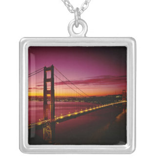 Golden Gate Bridge, San Francisco, California, 5 Silver Plated Necklace