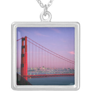 Golden Gate Bridge, San Francisco, California, 7 Silver Plated Necklace