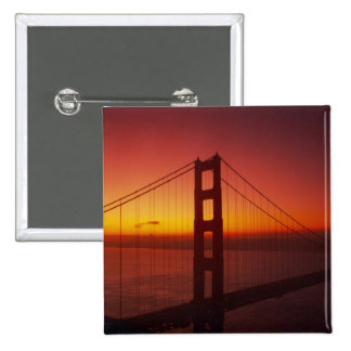 Golden Gate Bridge, San Francisco, California, 9 15 Cm Square Badge