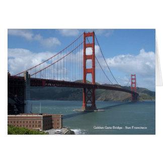 Golden Gate Bridge San Francisco Card