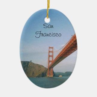 Golden Gate Bridge- San Francisco Ceramic Oval Decoration
