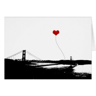 Golden Gate Bridge San Francisco Lover's Card