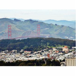 Golden Gate Bridge Seen From Twin Peaks Cut Outs