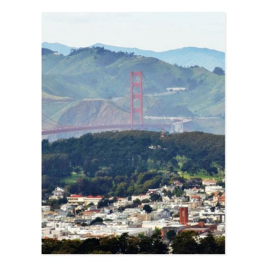 Golden Gate Bridge Seen From Twin Peaks Postcard