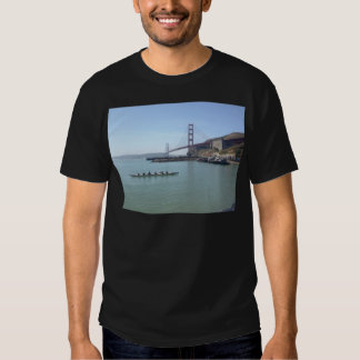 Golden Gate bridge shirts with outrigger canoe