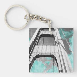 Golden Gate Bridge Single-Sided Square Acrylic Key Ring