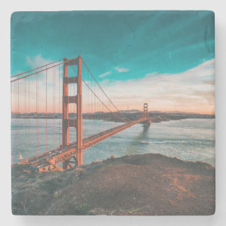 Golden Gate Bridge Stone Beverage Coaster